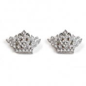 Sassy Clips Small Crown Clips For Your Flips Silver