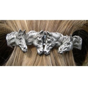 Barrette-4 Horse Heads