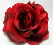 Large Perfect Red Rose Flower Hair Clip