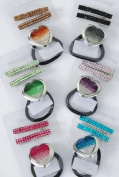 Fashion Hair Accessory ~ Infanity Stone Heart Pony Tail Holder with Alligator Hair Clips Set of 12