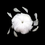 White Feather Wedding Floral Hair Clip