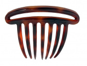 CARAVAN DOUBLE RIM FRENCH TWIST COMB SHELL OR BLACK