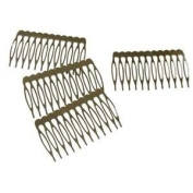Tanday #5239 silver metal combs for crafts & hair accessories (12) pcs) - 6cm