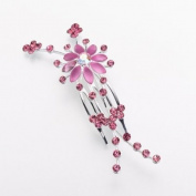 Lillian Rose-Pink Jewelled Hair Comb