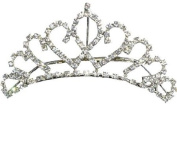 Crystal Bridal Bridesmaid Prom Tiara Hair Comb Rhinestone Wedding T10009