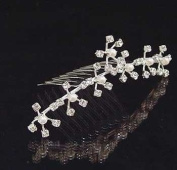 Kalina Crystal and Faux Pearl Flowers Hair Comb