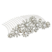 Bridal Wedding Jewellery Crystal Rhinestone Elegant MidSize Floral Hair Tiara Comb