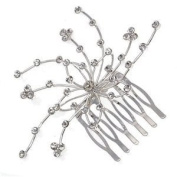 Anemone Silver Crystal Hair Comb