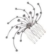 Corona Silver Crystal Hair Comb