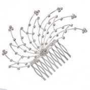 Aster Silver Crystal Hair Comb