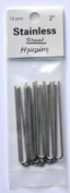 Amish Made Heavy Duty Steel Straight Hair Pins 5.1cm Inch