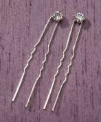 Darice VL3015 Single Rhinestone Hairpin, 6mm, 2-Pack