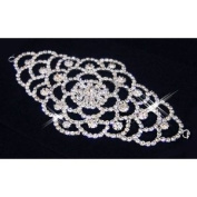Luxurious Crystal Elegant Beautiful Bridal Floral Pattern Pin-On Hair Hair Piece