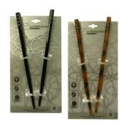 Brown and Black Hair Sticks with Diamonds