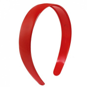 Uxcell Plastic Toothed Ladies Hair Hoop or Headband Ornament, Red, 0kg