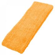 Rosallini Lady Spa Orange Terry Elastic Fabric Head Wear Scarf Hair Band 2 Pcs