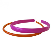 Ladies' Fashion 2pc Pink and Orange Headband Set - Headband Set