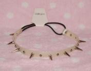 Silver-cool Stud Spike Rivet Bracelet/necklace/headband with Mult-function