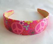 Funky Pink Peace Headband