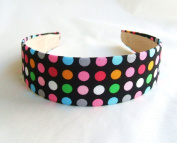 Polka Black Multi Colours Headband