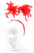 Touch of Nature 71023 Feather Antenae Headband Red
