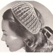 Vintage Crochet PATTERN to make - Half Hat Headband Hairband. NOT a finished item. This is a pattern and/or instructions to make the item only.
