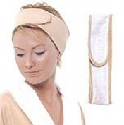 Spa Sister Reversible Deluxe Microfiber Headband - Tan / Cream