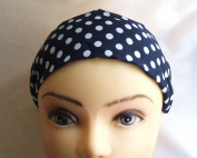 Blue Polka 5.1cm Wide Headband