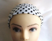 Polka White Two Inch Wide Headband