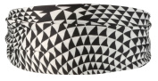 Smoothies Black and White Triangles Scarf Headband 01804