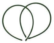 7mm Satin Covered Plastic Headband in Olive - 12 Pieces