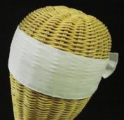 Japanese Headband, 2 pc Plain White Hachimaki #DG004A