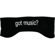 FLEECE HEADBAND GOT MUSIC BLACK