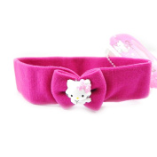 "Headband ""Charmmy Kitty"" pink fuchsia."