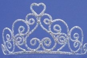 Adult Silver Sparkle Heart Tiara by elope