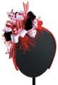 RED/BLACK/WHITE SPIRIT HEADBAND,19.1cm