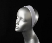 3.8cm Wider White Plastic Headbands Hair Accessories- 24 Pcs