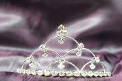 Beautiful Bridal Wedding Tiara Crown with 6 Crystal Leaf Party Accessories DH14833