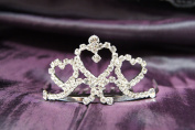 Beautiful Bridal Wedding Tiara Crown with Crystal Heart Party Accessories DH14065