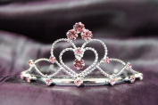 Beautiful Bridal Wedding Tiara Crown with Pink Crystal Party Accessories C16055
