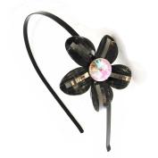 "Headband ""Cristal"" black."