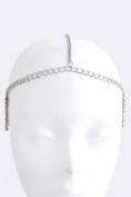 Fashion Hair Accessory ~ Silvertone Side Swag Drape Head Chain
