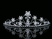 Bridal Rhinestone Crystal Pearl Flower Prom Wedding Tiara Crown
