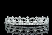Bridal Rhinestone Crystal Pearl Prom Wedding Tiara Crown
