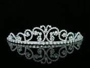 Rhinestone Crystal Butterfly Bridal Wedding Prom Tiara Crown