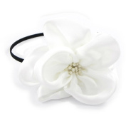 "Headband 'french touch' ""Sissi"" white."