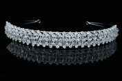 Bridal Prom Wedding Crystal Beads Tiara Headband