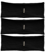Headband 3-pack - single layer thin hBand Black collection by Absolute Yogi