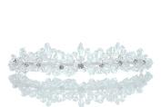 Bridal Wedding Rhinestone Crystal Beads Flower Prom Party Crown Tiara