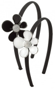Crystal Black Daisy Headband